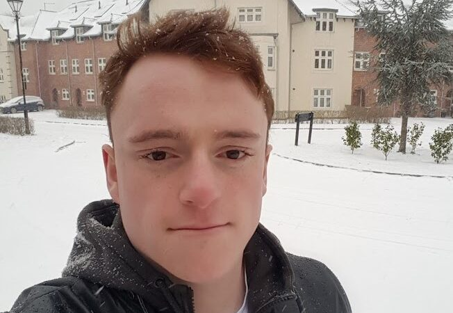 George Went stands outside in the snow