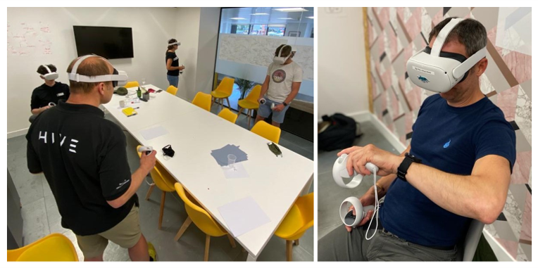 Cervus Team Members using VR Headsets