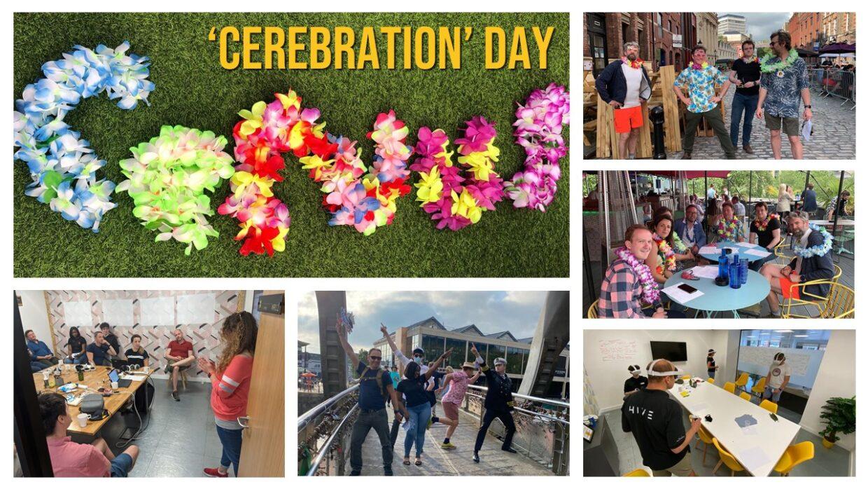 Collage of Cervus Staff on Innovation Day